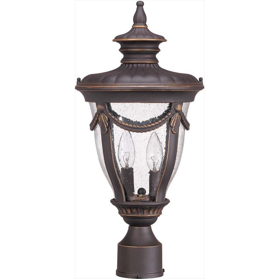 11.02-in W Belgium Bronze Outdoor Flush-Mount Light