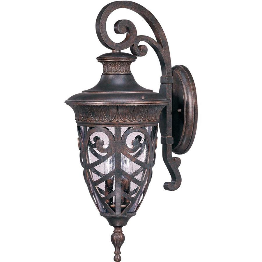 28.43-in H Dark Plum Bronze Outdoor Wall Light