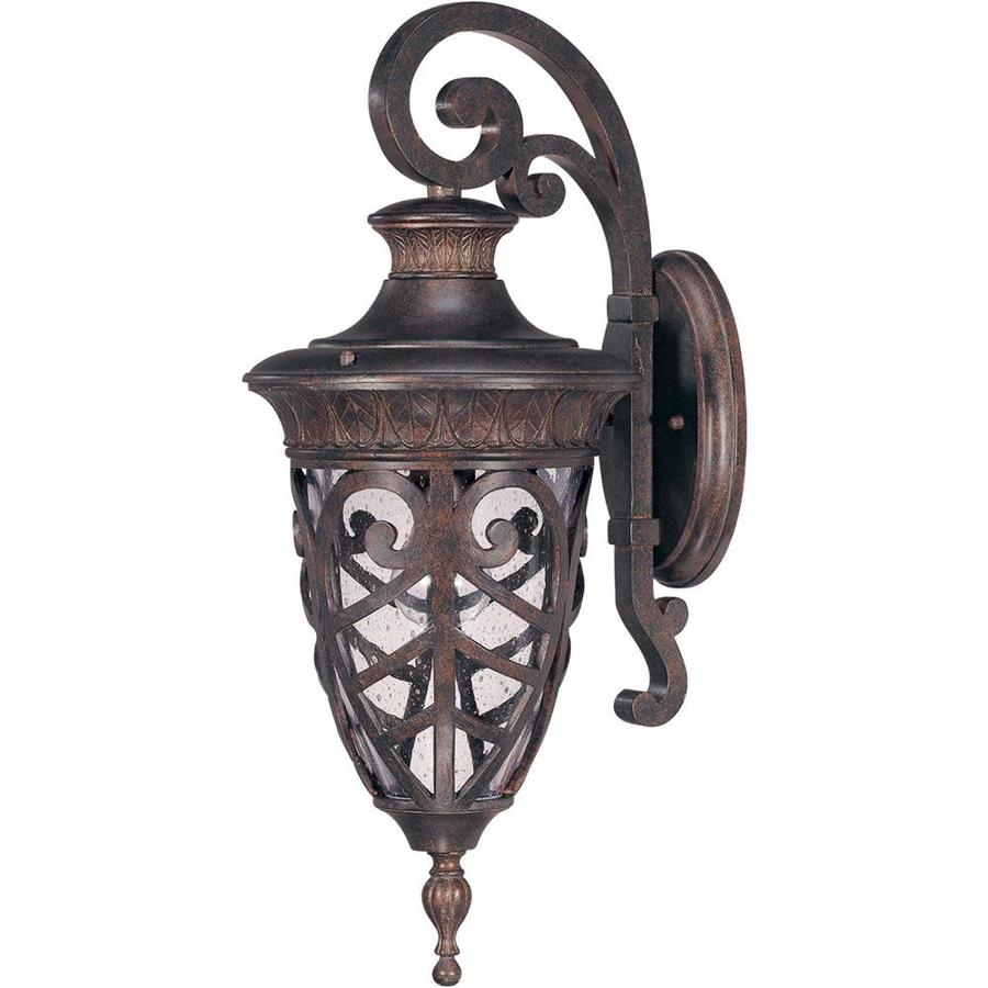 23.89-in H Dark Plum Bronze Outdoor Wall Light