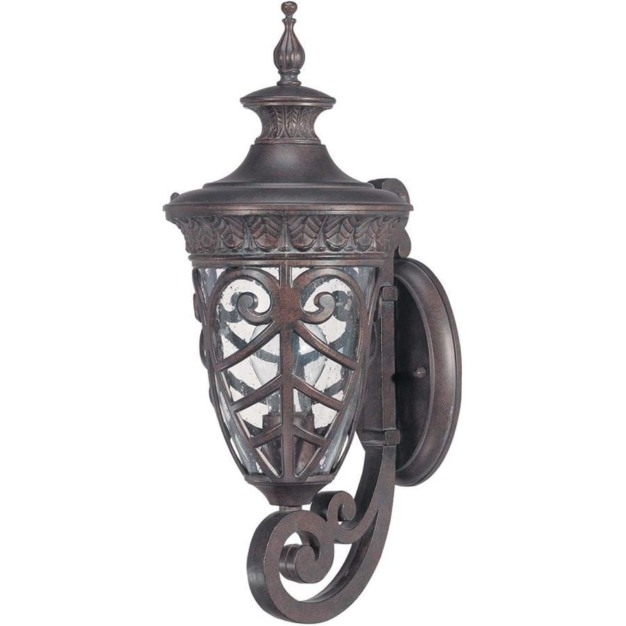 17.4-in H Dark Plum Bronze Outdoor Wall Light