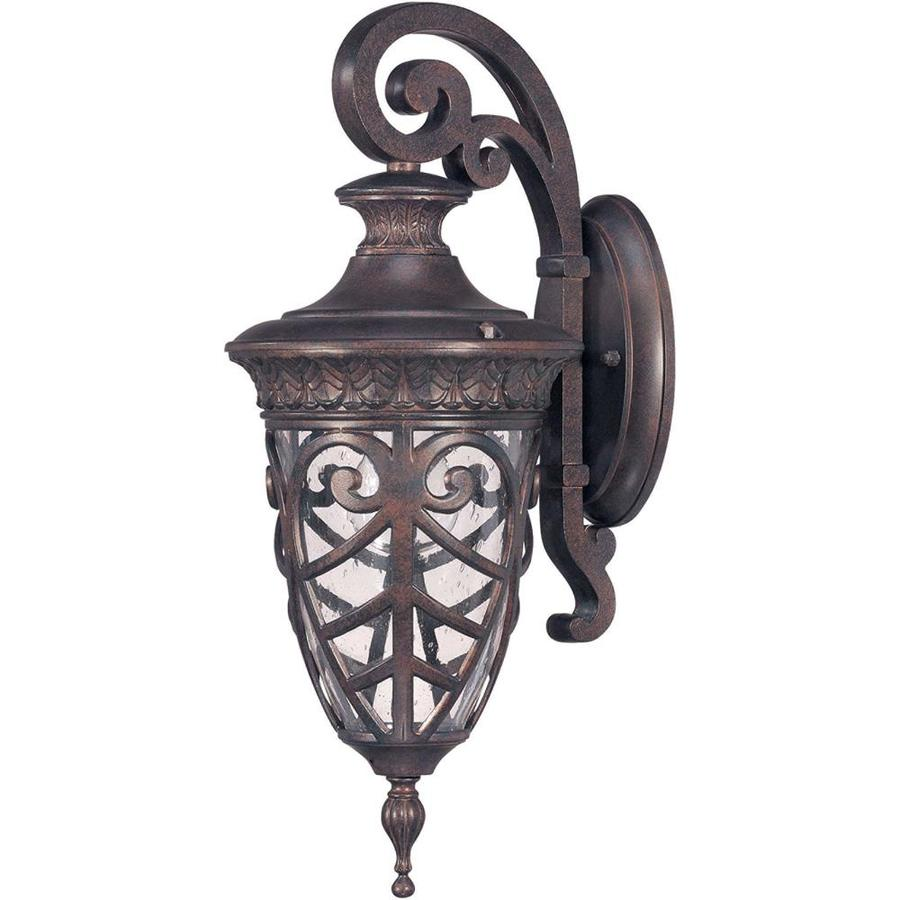 21.07-in H Dark Plum Bronze Outdoor Wall Light