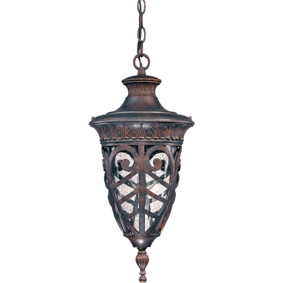 11.15-in W Dark Plum Bronze Outdoor Flush-Mount Light