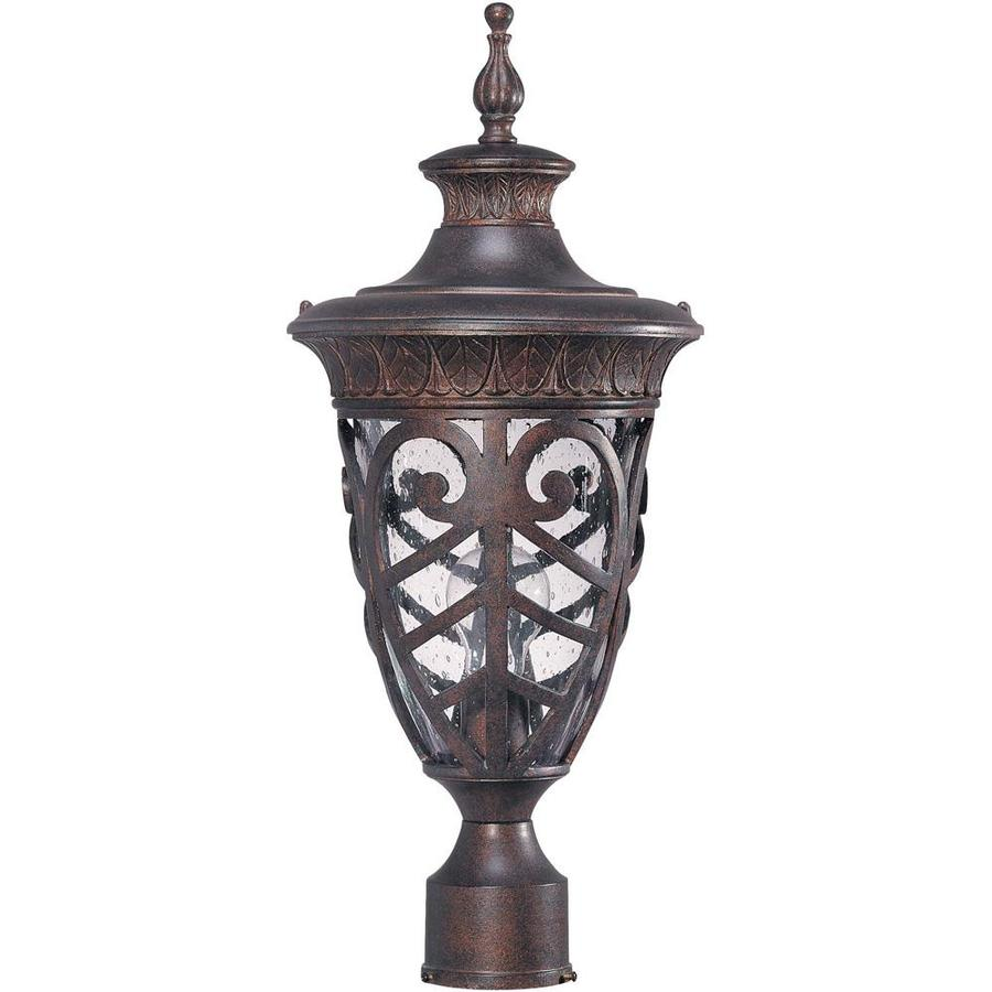 Shop 11.15-in W Dark Plum Bronze Outdoor Flush-Mount Light at Lowes.com