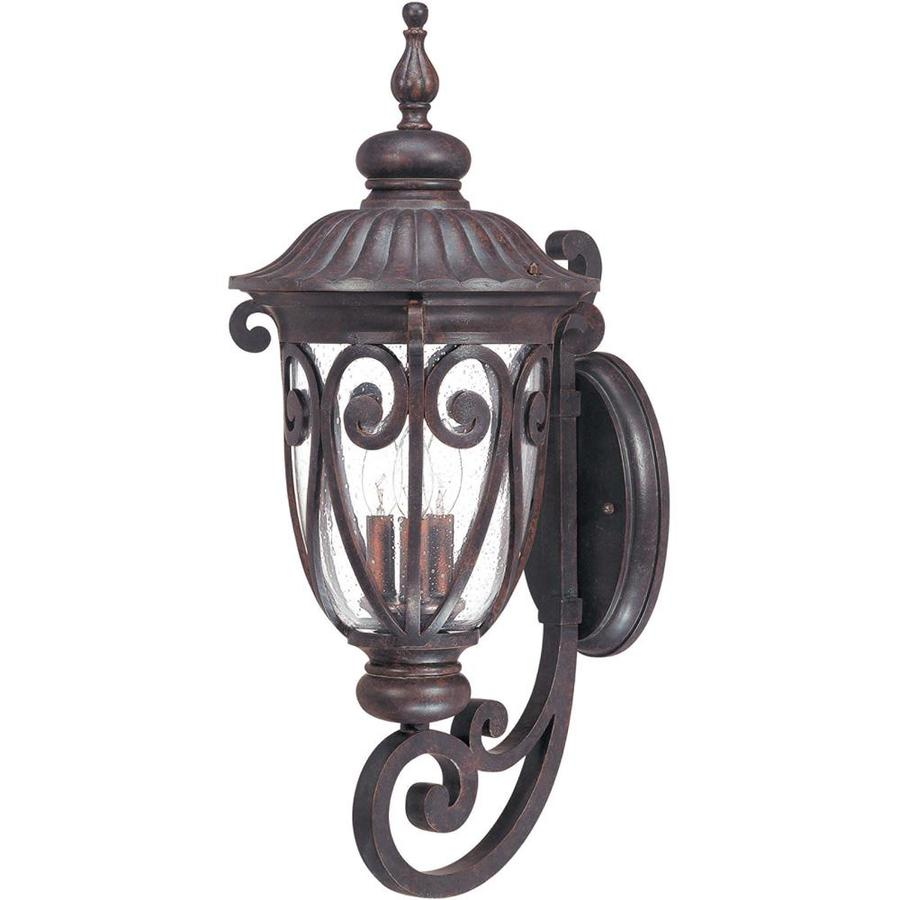 25.12-in H Burlwood Bronze Outdoor Wall Light