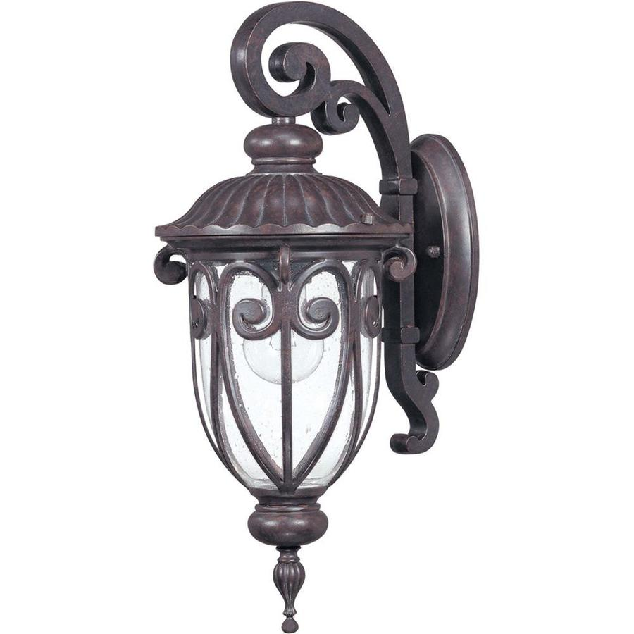 20.09-in H Burlwood Bronze Outdoor Wall Light