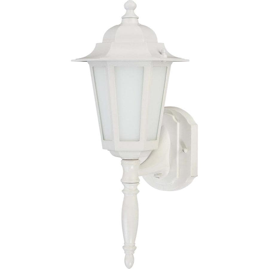 11.57-in H White Outdoor Wall Light