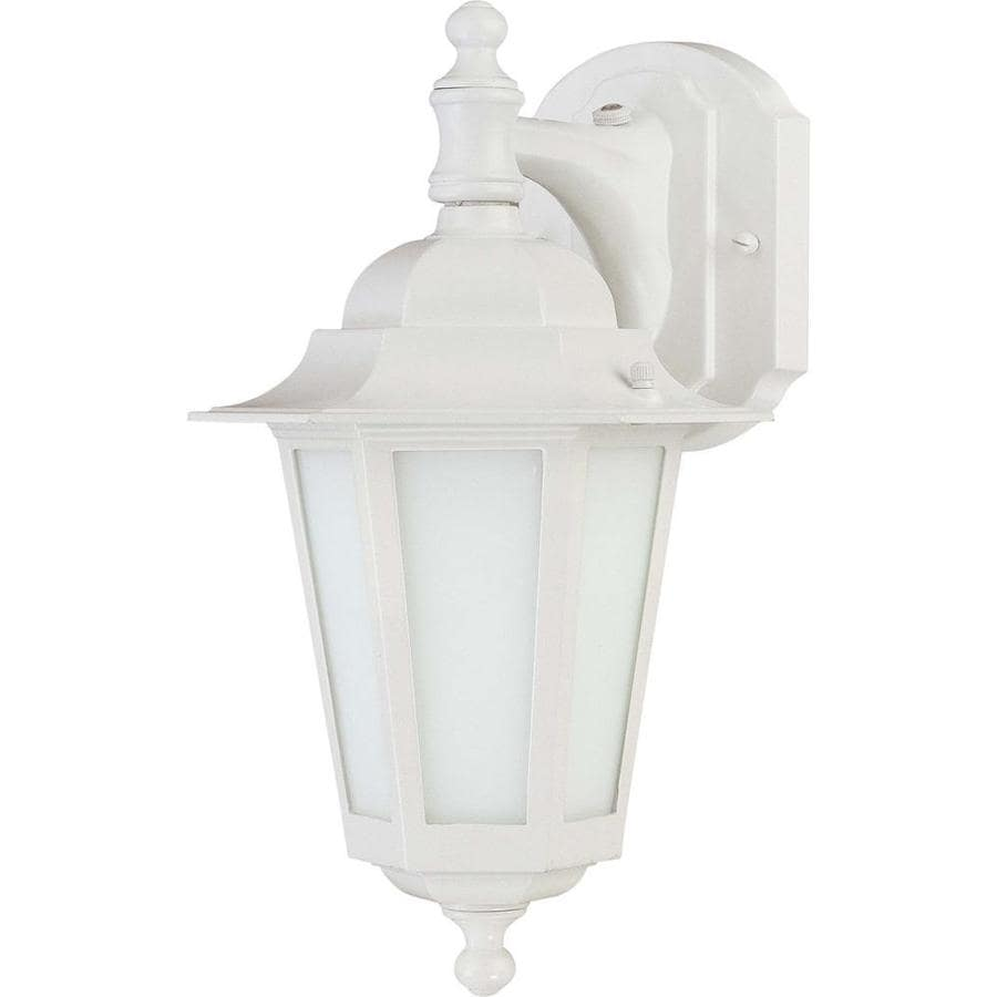 13.12-in H White Outdoor Wall Light
