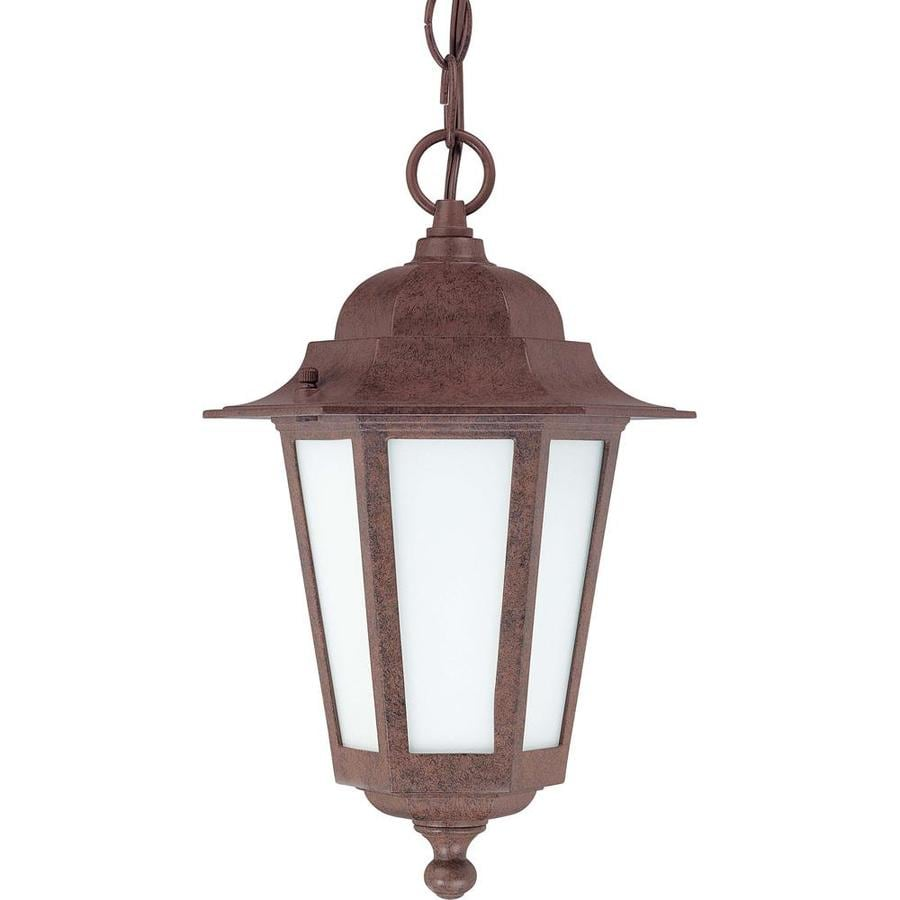 16.79-in W Old Bronze Outdoor Flush-Mount Light