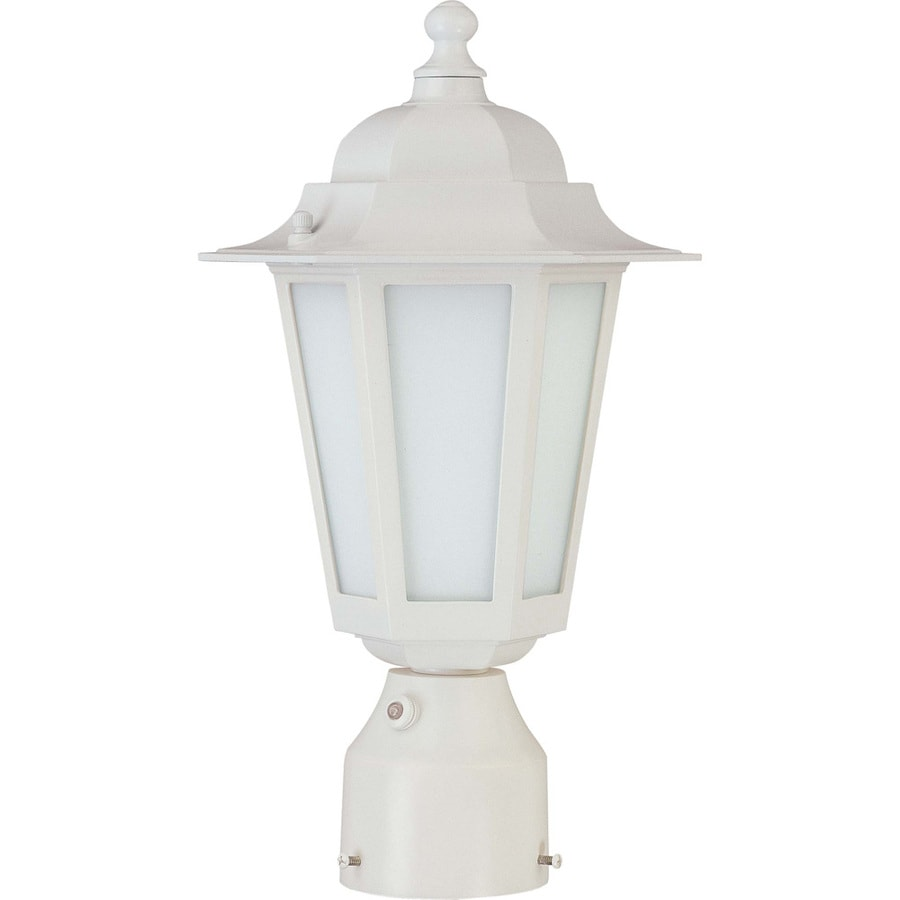 18.91-in W White Outdoor Flush-Mount Light