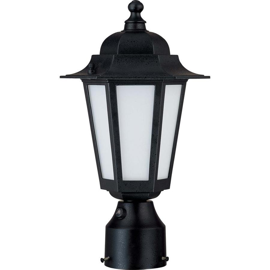 Cornerstone 13.31-in H Textured Black Complete Post Light