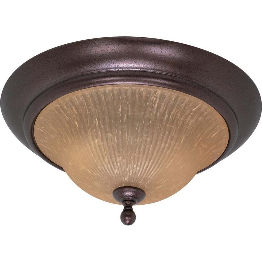 2-in W Copper bronze Flush Mount Light