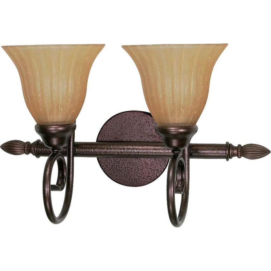Moulan 2-Light 11-in Copper Bronze Vanity Light