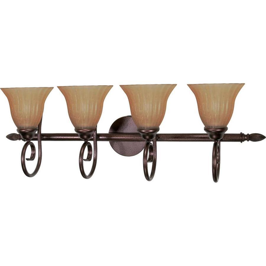 Moulan 4-Light 11-in Copper Bronze Vanity Light