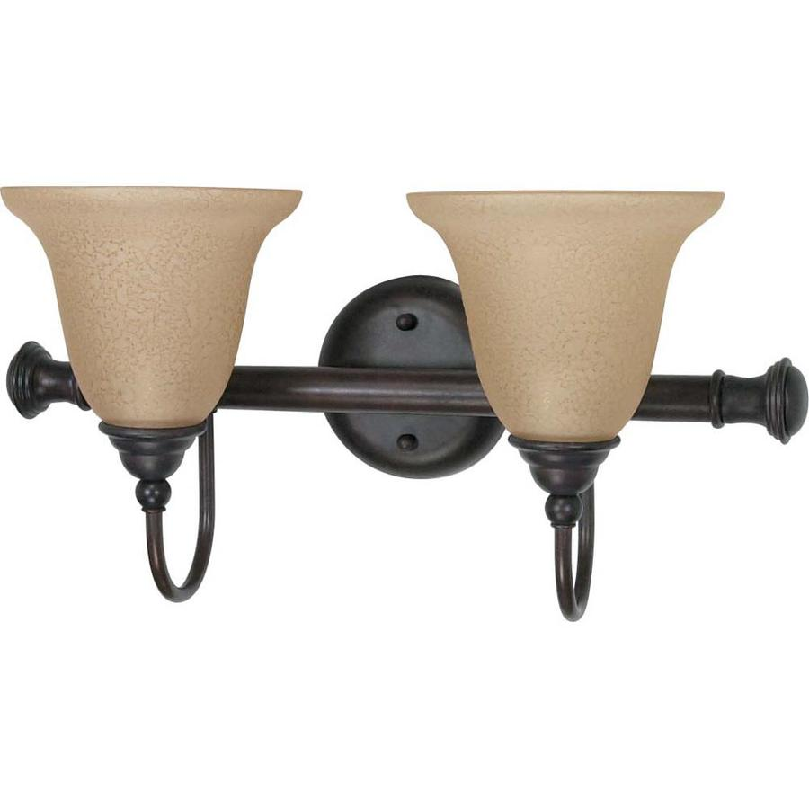 Mericana 2-Light 9.125-in Old bronze Vanity Light