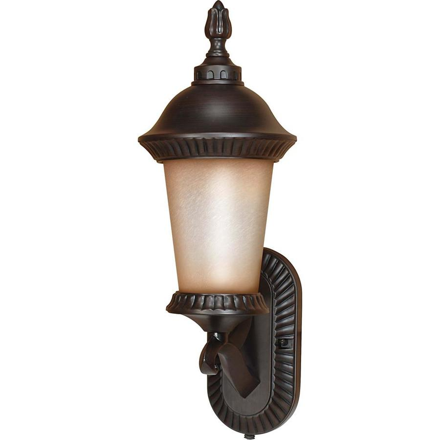 15.93-in H Chestnut Bronze Outdoor Wall Light