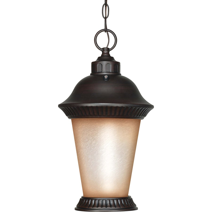 11.15-in W Chestnut Bronze Outdoor Flush-Mount Light
