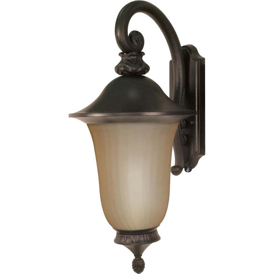 24.01-in H Old Penny Bronze Outdoor Wall Light