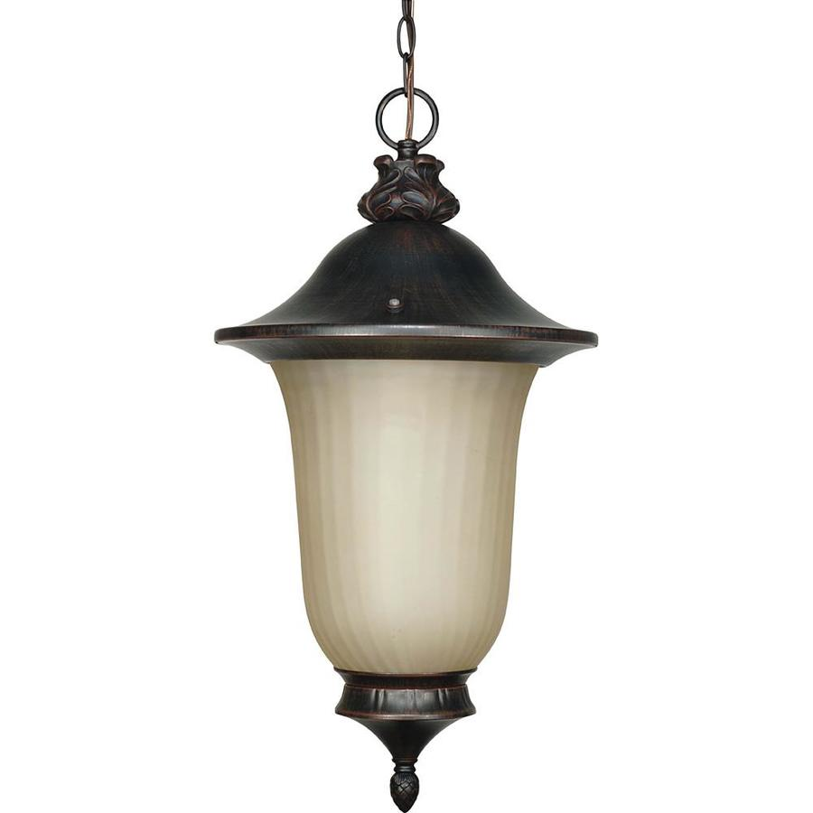 14.7-in W Old Penny Bronze Outdoor Flush-Mount Light