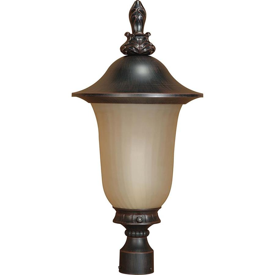 Parisian 20.22-in H Old Penny Bronze Complete Post Light