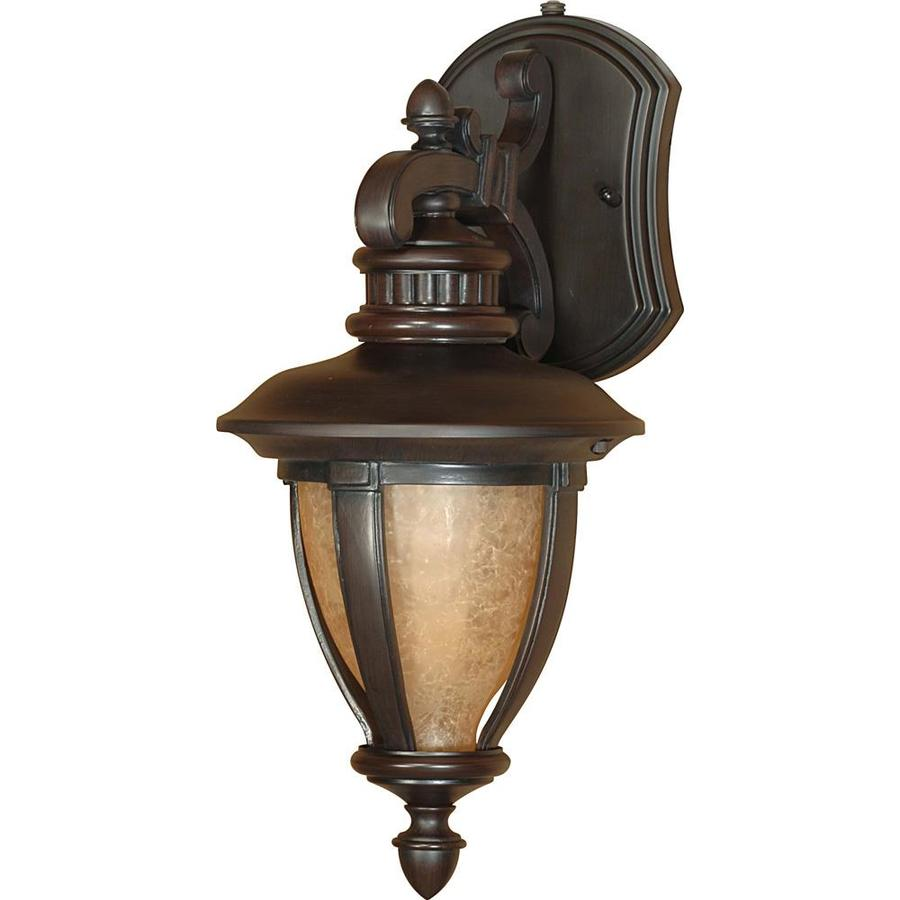 15.93-in H Old Penny Bronze Outdoor Wall Light