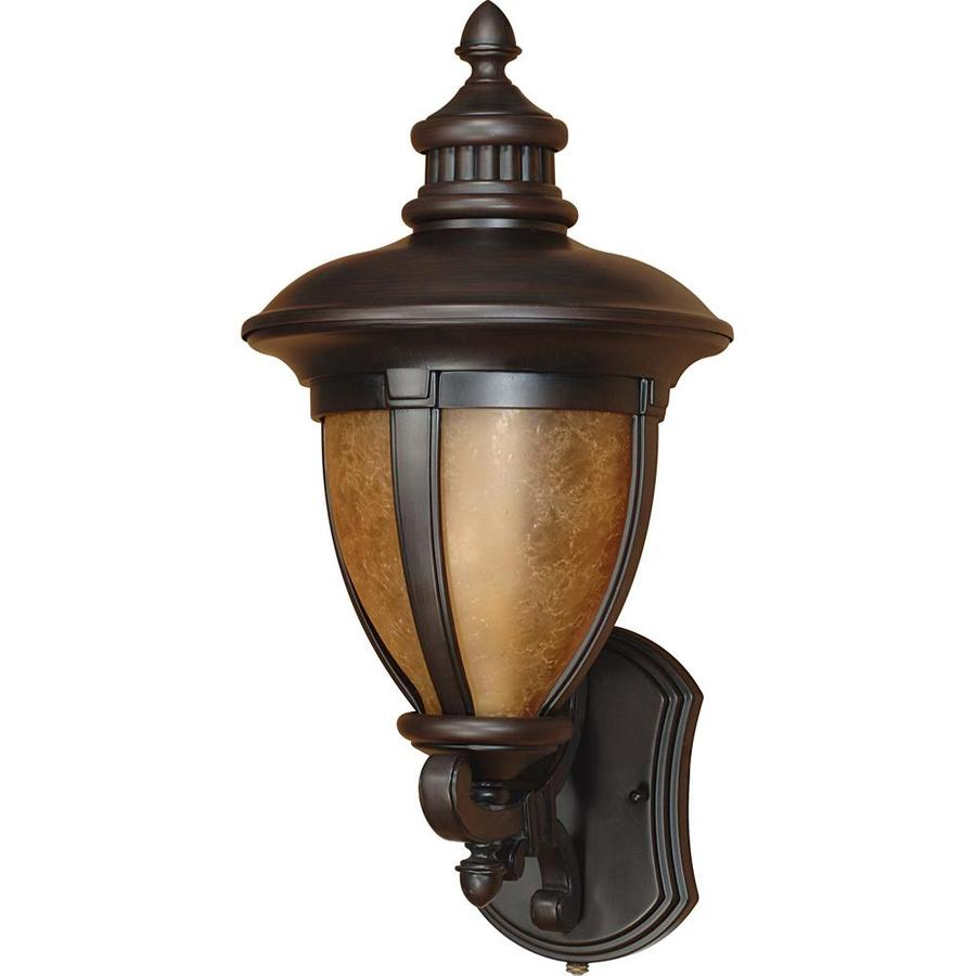 18.25-in H Old Penny Bronze Outdoor Wall Light