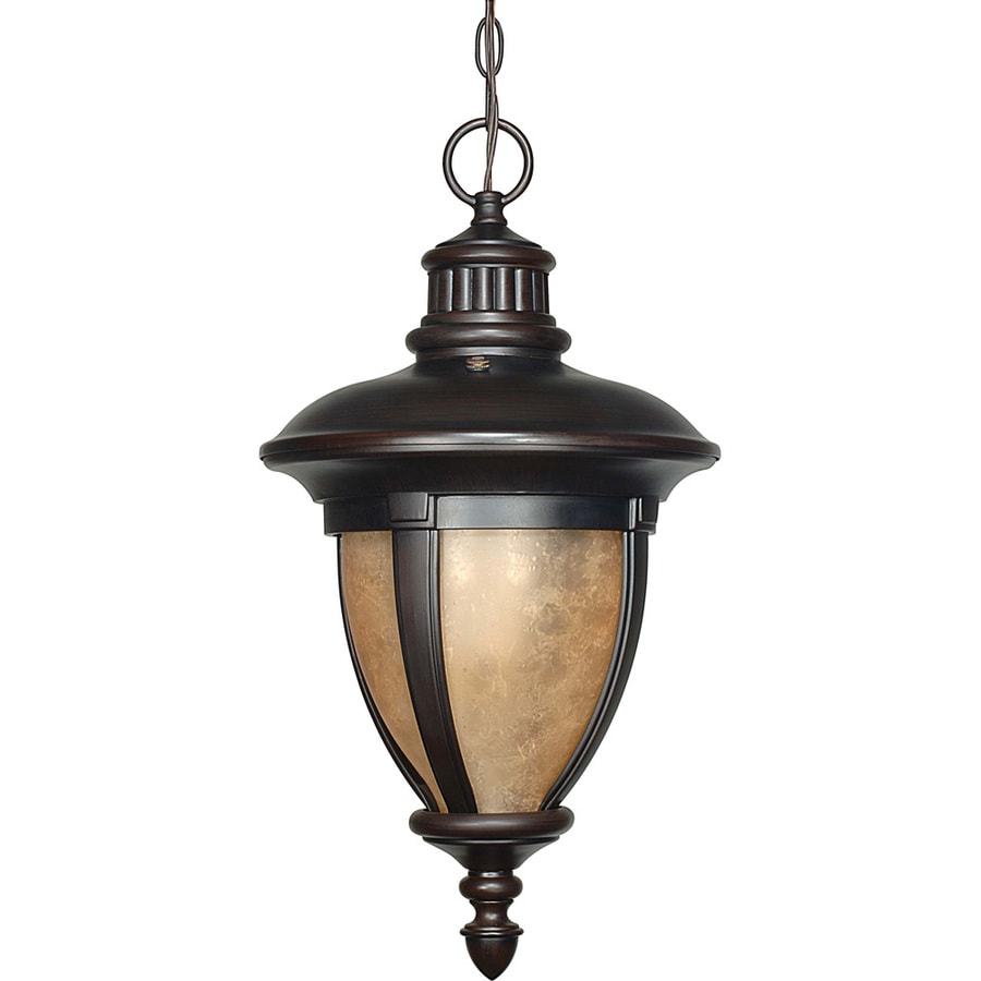12.37-in W Old Penny Bronze Outdoor Flush-Mount Light