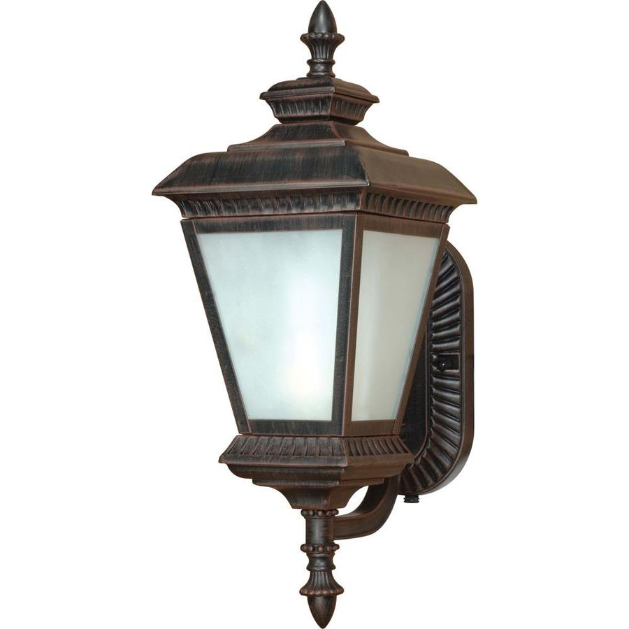 10.17-in H Old Penny Bronze Outdoor Wall Light