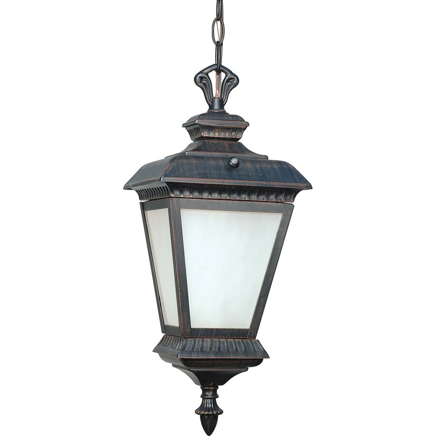 14.09-in W Old Penny Bronze Outdoor Flush-Mount Light ENERGY STAR
