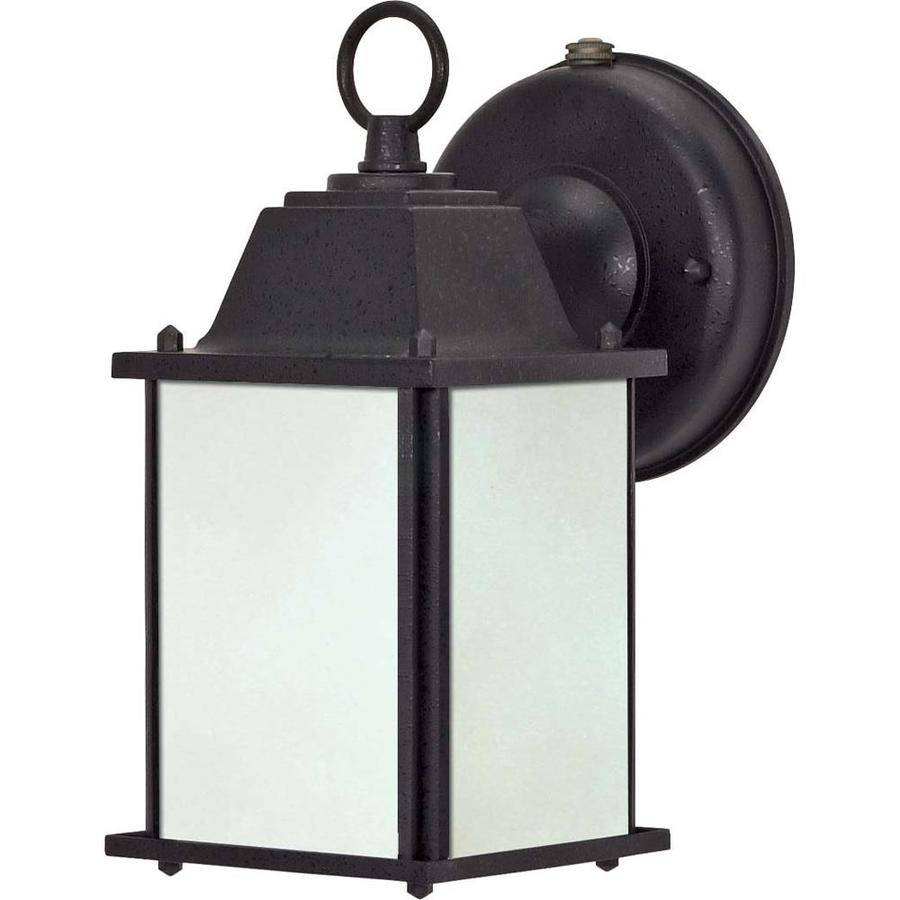 11.57-in H Textured Black Outdoor Wall Light