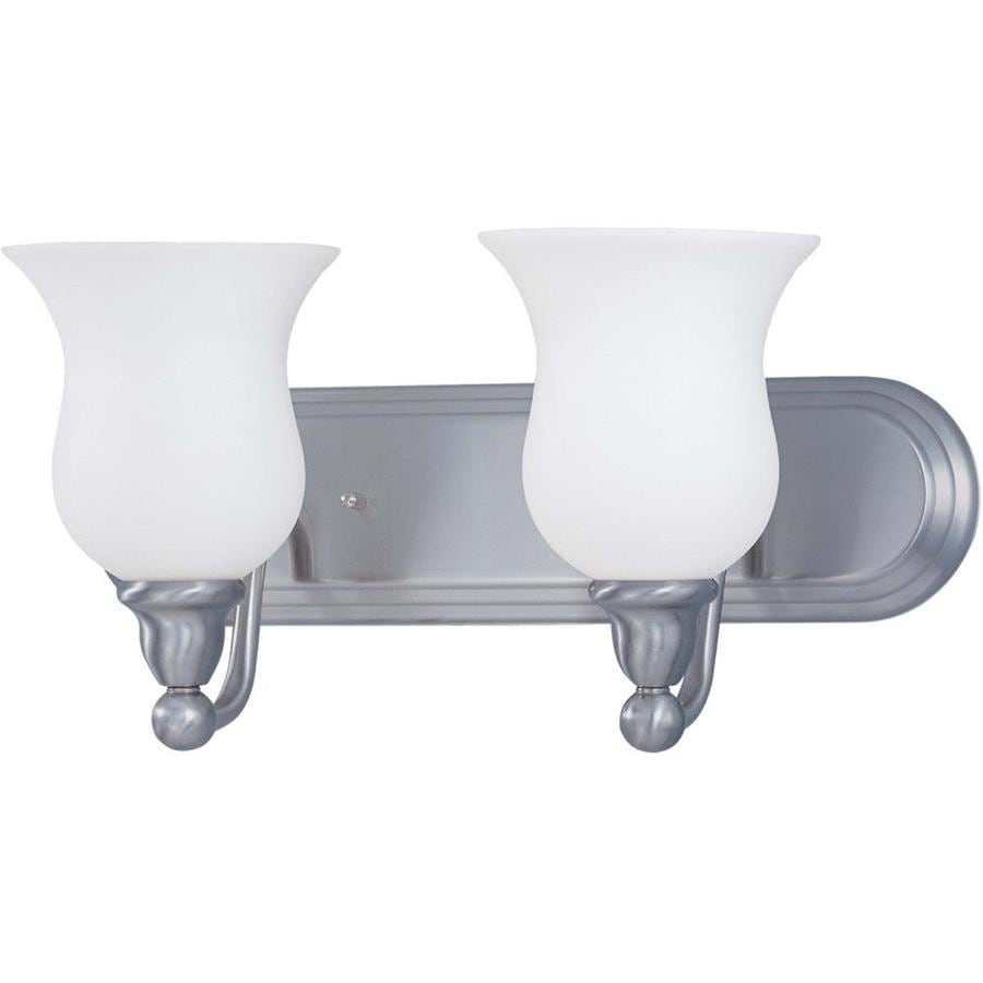 Vanity Lights In Brushed Nickel : Shop Glenwood 2-Light 8.5-in Brushed Nickel Vanity Light at Lowes.com
