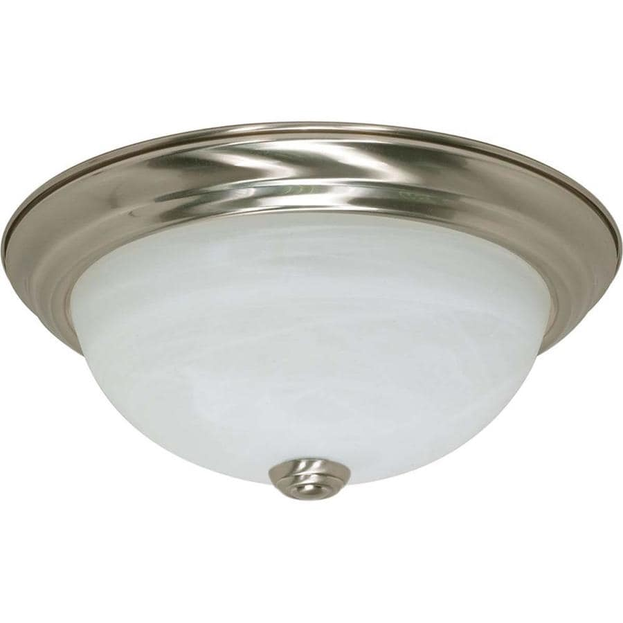11.37-in W Brushed Nickel Ceiling Flush Mount Light