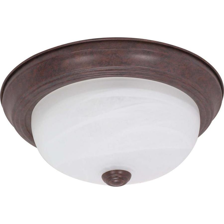 13.12-in W Old Bronze Ceiling Flush Mount Light