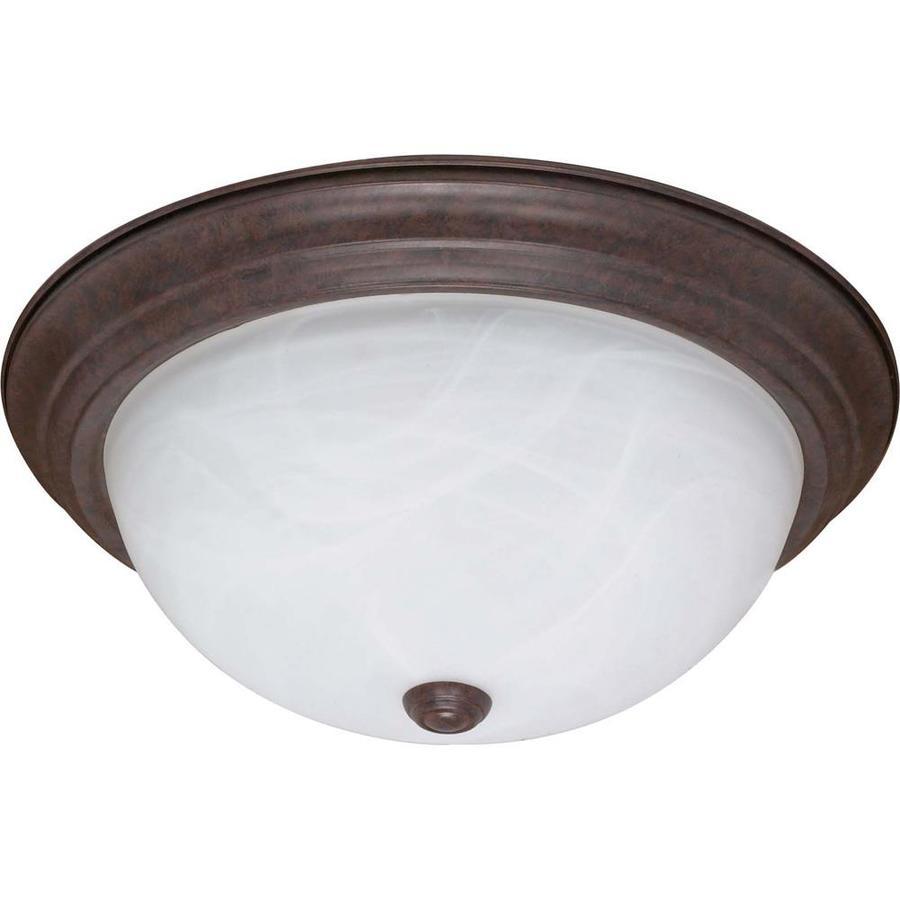 15.25-in W Old Bronze Ceiling Flush Mount Light