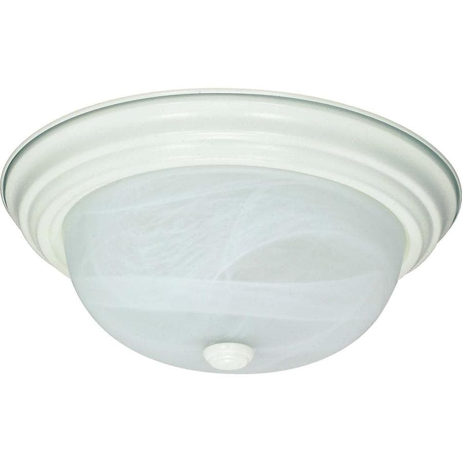 13.12-in W Textured White Flush Mount Light