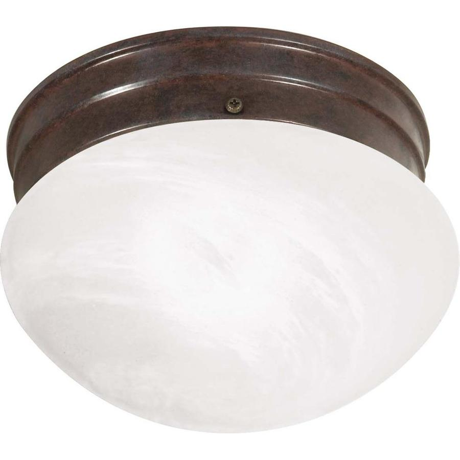 1-in W Old Bronze Flush Mount Light