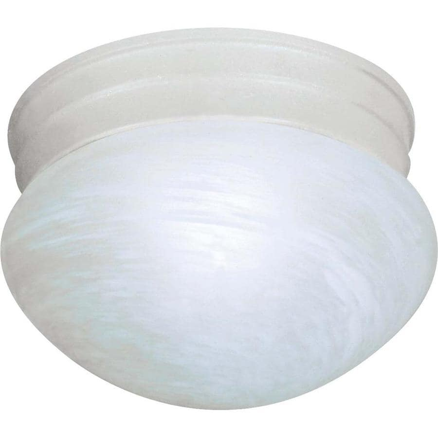 7.5-in W Textured White Standard Flush Mount Light