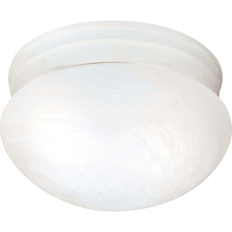 9.5-in W Textured White Flush Mount Light