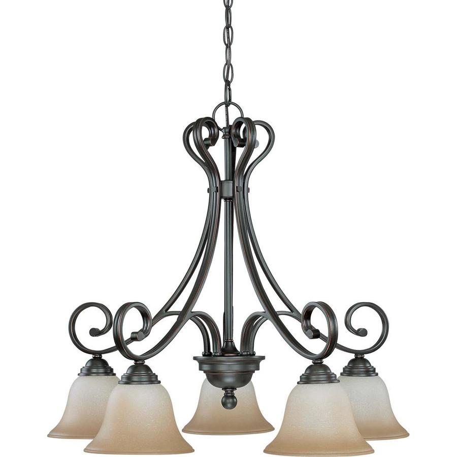 Montgomery 26.5-in 5-Light Sudbury Bronze Candle Chandelier