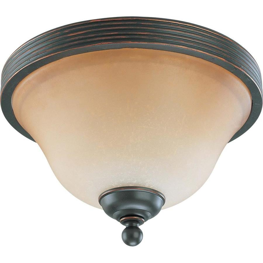 2-in W Sudbury bronze Flush Mount Light