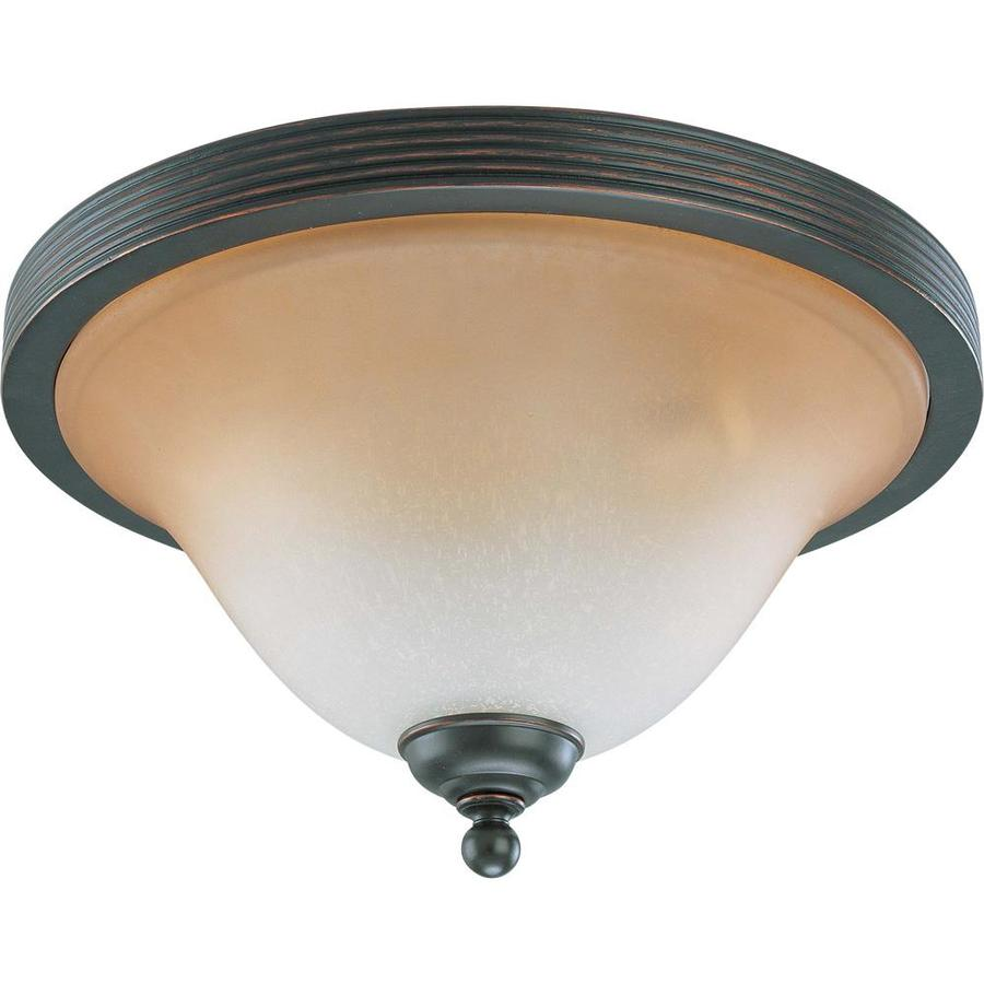 14.75-in W Sudbury Bronze Flush Mount Light