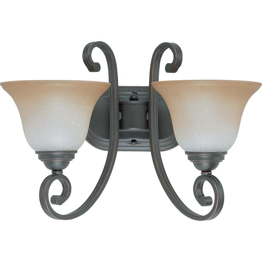 Montgomery 2-Light 16.5-in Sudbury bronze Vanity Light