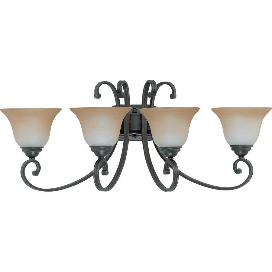 Shop Montgomery 4-Light 31-in Sudbury Bronze Vanity Light
