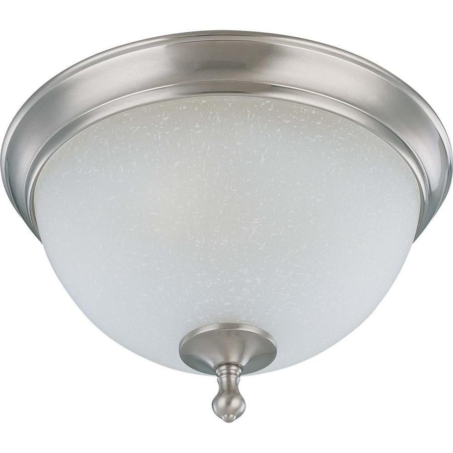 13.5-in W Brushed Nickel Standard Flush Mount Light