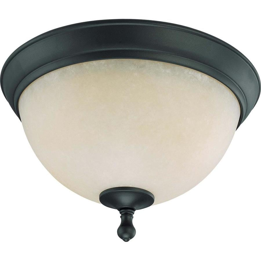 13.5-in W Aged Bronze Standard Flush Mount Light