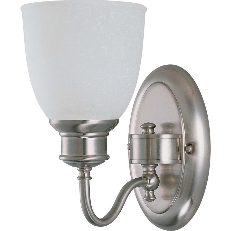 Bella 1-Light 10.25-in Brushed Nickel Vanity Light