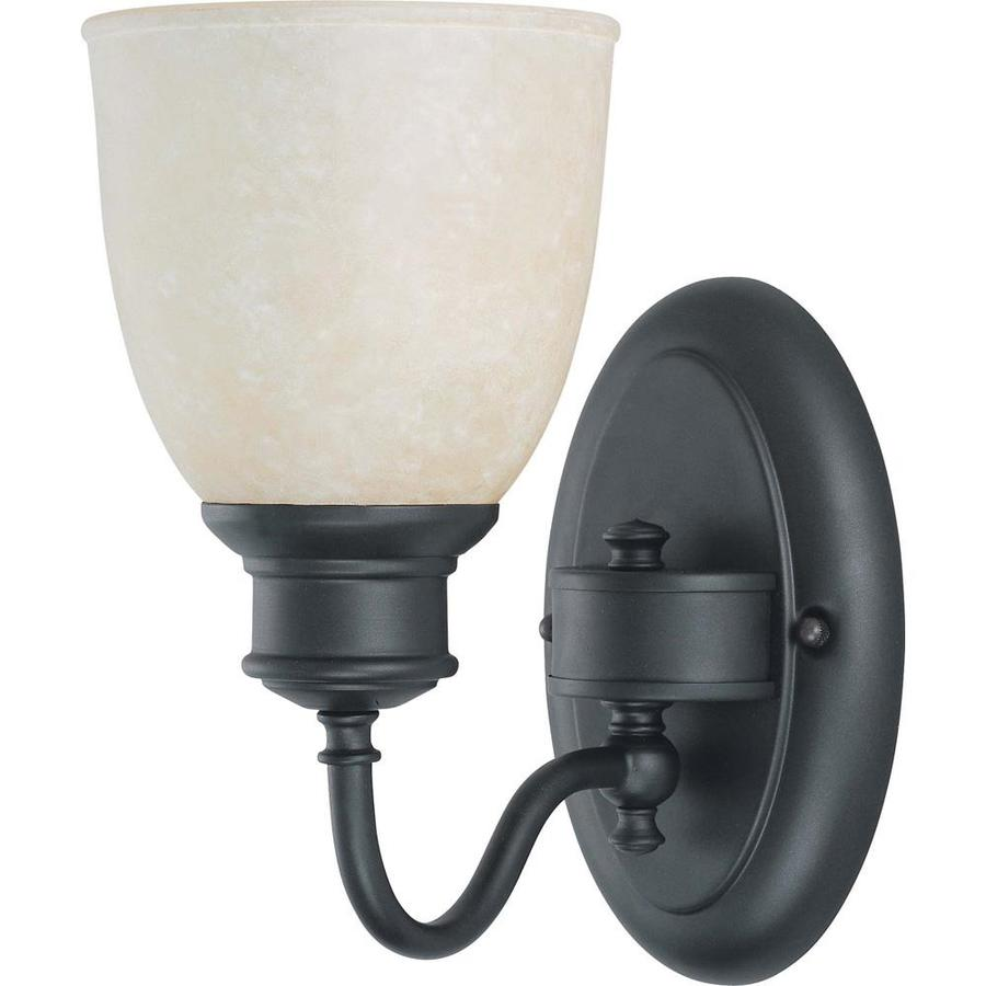Bella 1-Light 10.25-in Aged bronze Vanity Light