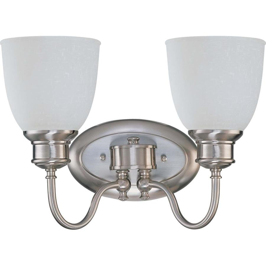 2 Light Vanity Light Brushed Nickel : Shop Bella 2-Light 10.25-in Brushed Nickel Vanity Light at Lowes.com