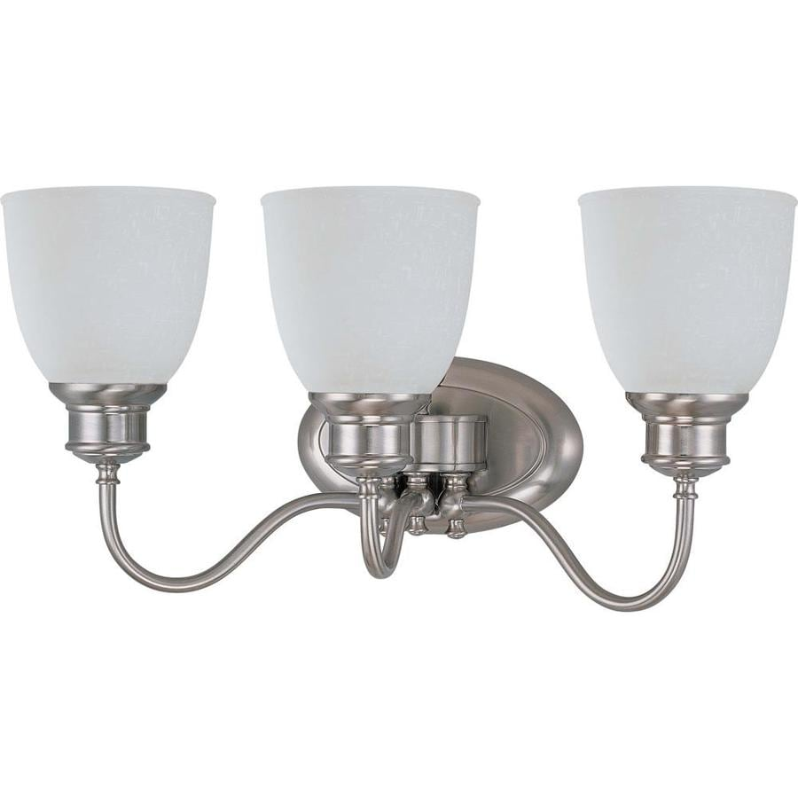 Bella 3-Light 10.25-in Brushed nickel Vanity Light