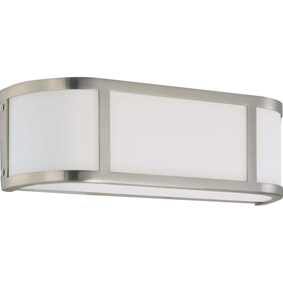 Odeon 18-in W 1-Light Brushed nickel Pocket Wall Sconce