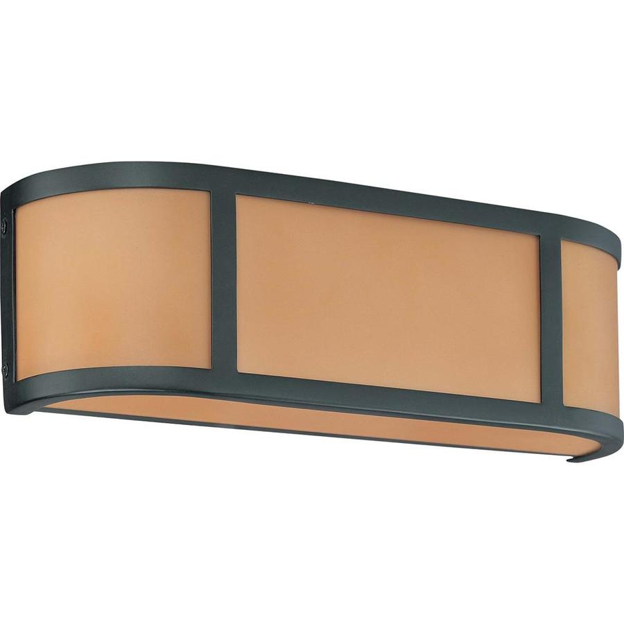 Aged Bronze Wall Sconces : Shop Odeon 18-in W 1-Light Aged bronze Pocket Wall Sconce at Lowes.com